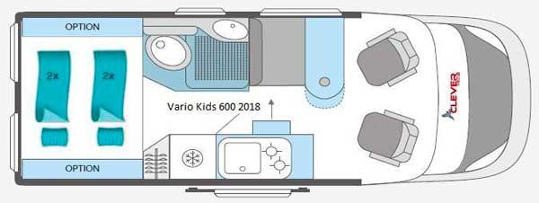 Plano autocaravana Vario Kids 600